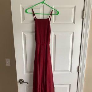 NEVER WORN Lulu's Mystical Love Wine Maxi Dress